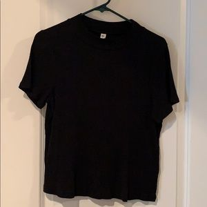 Black high neck shirt